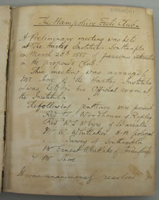 copy of first meeting minutes
