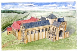 Artists Impression of Selborne Priory