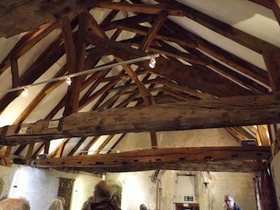 Roof beams St John's House, Romsey